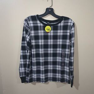 NWT long sleeve plaid shirt